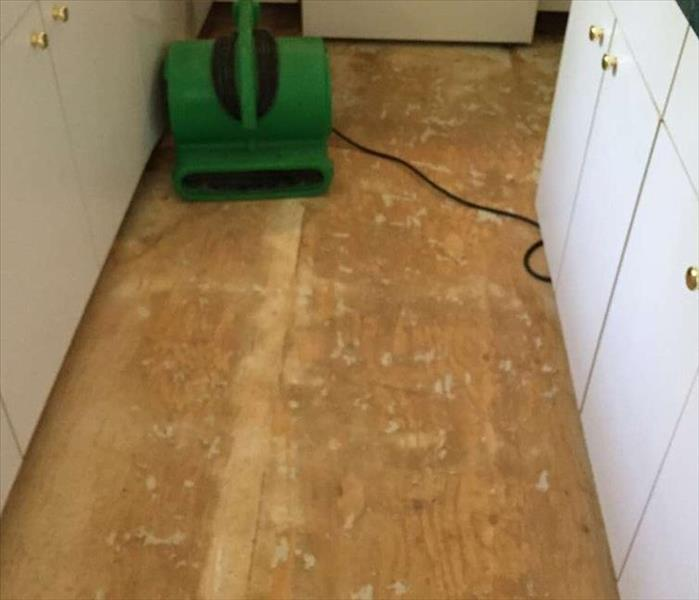 Water damaged floor restoration in Branford CT After