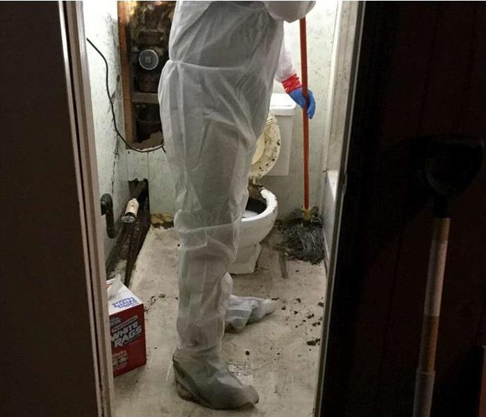 Toilet biohazard water restoration in Northford CT